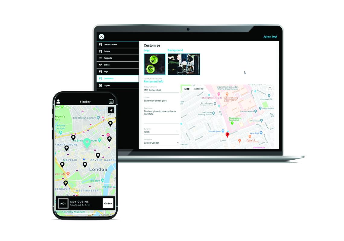 web and mobile application - moi mockup