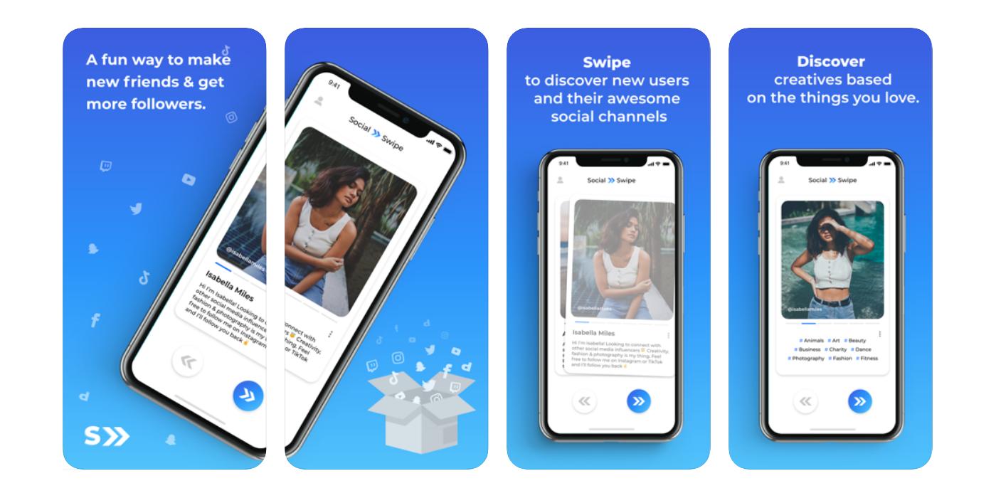 Social Swipe - mobile application mockup