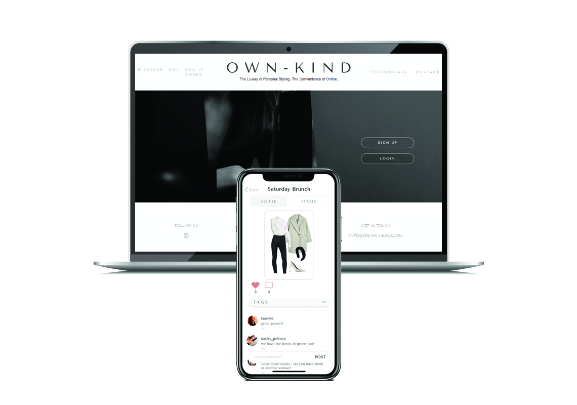 own-kind mockup - web and mobile application